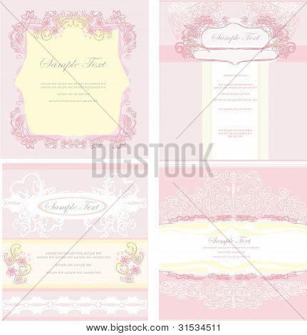 Stylish Wedding templates set