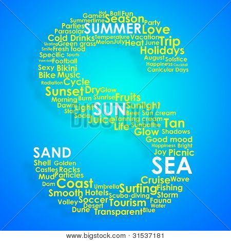 Summer Typographic Concept Arrangement