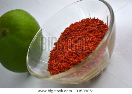 Dried Red Fenugreek Seeds And Green Mango For Pickle