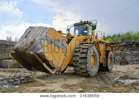 Excavation With A Big Stone