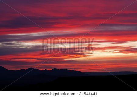Mojave Desert Mountain Sunrise Landscape