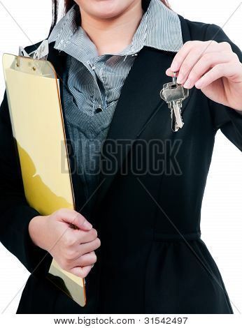 Businessperson Holding Keys