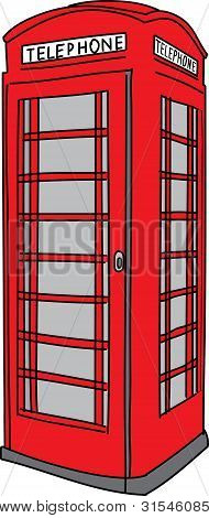 Vector phone booth