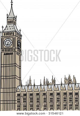 Vector of Big Ben in London