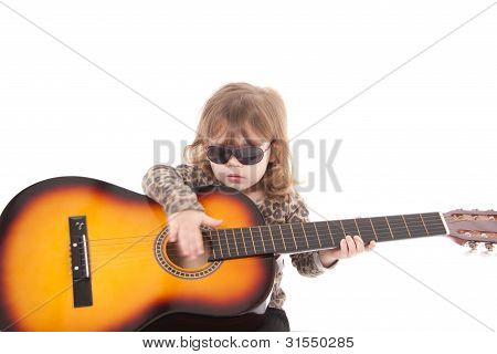 Child with a guitar