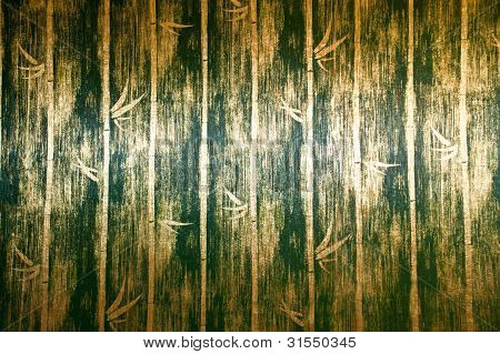 Green Bamboo Wall Texture In Bed Room Thai Lana Style