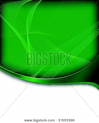 Abstract Green Hi-tech Banner