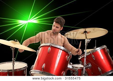 Young Drumer Portrait