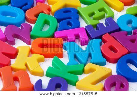 Fondo de letras del alfabeto