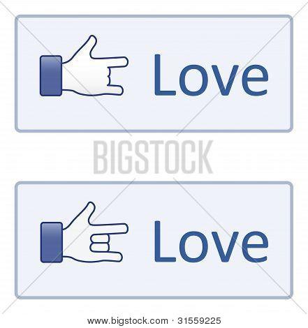Hand symbol---Love
