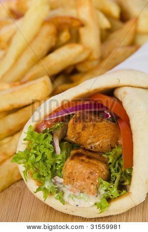 Gyros Sandwich Wuth Chicken Meat