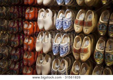 Wooden shoes Dutch souvenirs big choice