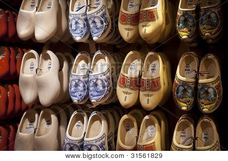 Wooden shoes Dutch souvenirs