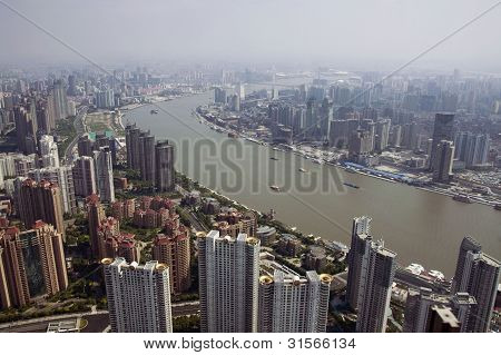 View at Shanghai from the Jin Mao Tower