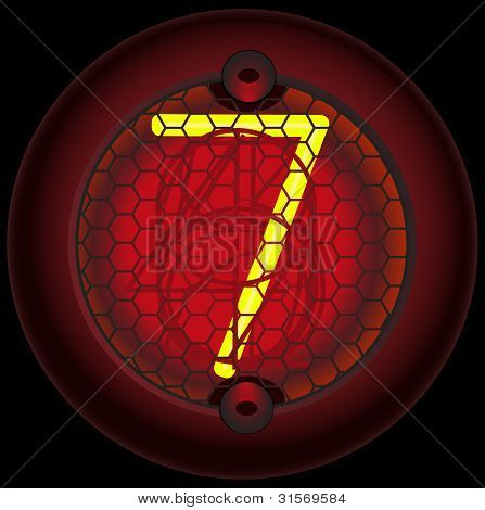 11_gas Discharge Indicator Number 7 (seven)