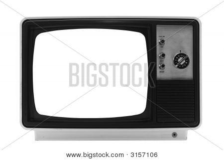 Retro Tv - isoliert mit Beschneidungspfade