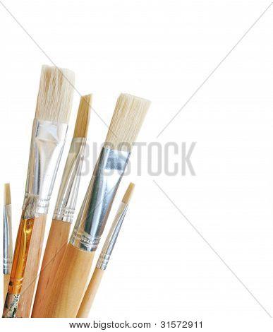 Kunst Pinsel isoliert auf weißem Hintergrund