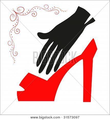 Zapato y guante