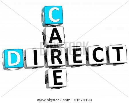 3D Direct Care Crossword Text