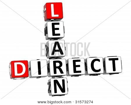 3D Direct Learn Crossword Text