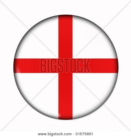 Button Flag Of England