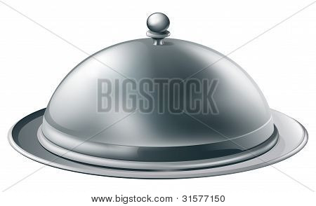 Silver Platter Illustration