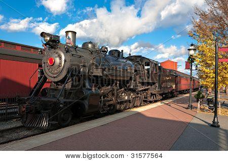 The steam engine train