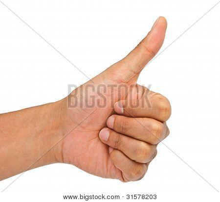 Man Hand Making Sign