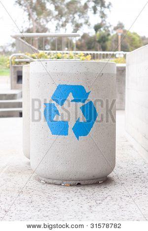 Concrete Recycle Bin