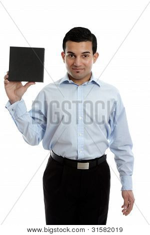 Businessman Holding A Product