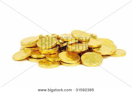 Moedas de Euro ouro