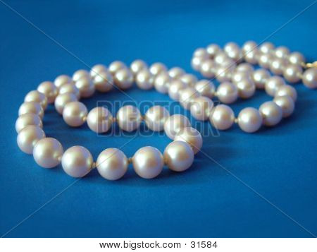 Pearls On Blue 1