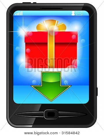 Cell Phone And Gift