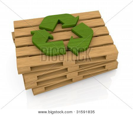 Pallet And Recycle Symbol
