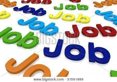 Konzept der Job-Suche