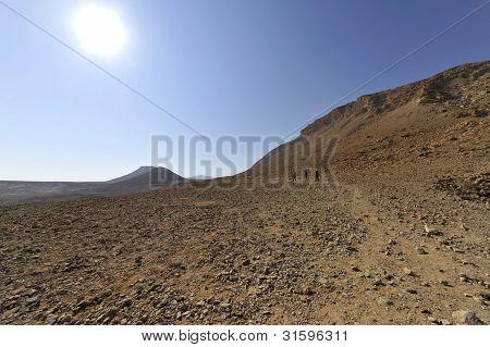 Heat in Judea desert.