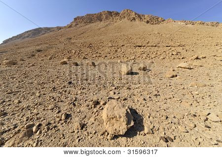 Judea Desert landscape.
