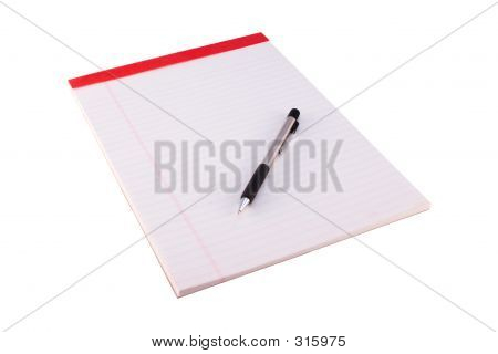 Legal Pad With Pencil