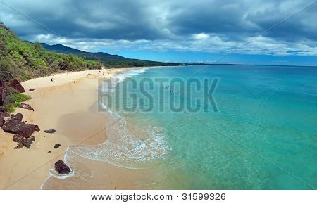 Gran playa en Maui Hawaii Island