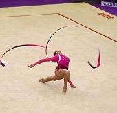Mariya Mateva Of Bulgaria Performs During Rhythmic Gymnastics World Cup
