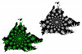 Sabah (states And Federal Territories Of Malaysia, Federation Of Malaysia) Map Is Designed Cannabis  poster
