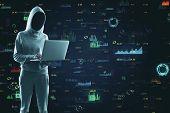 Hacker Using Creative Big Data Interface poster