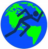 Stick Man Running On Earth poster