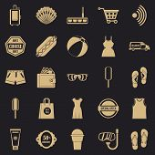 Tourist Shop Icons Set. Simple Set Of 25 Tourist Shop Icons For Web For Any Design poster