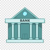 Swiss Bank Icon. Cartoon Illustration Of Swiss Bank Icon For Web Design poster