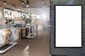Advertising Light Box Or Blank Showcase Billboard For Your Text Message Or Media Content With Blurre poster