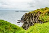 View Of The Rocky Cliffs In The Irish Countryside Along The Coastal Walk Route From Doolin To The Cl poster
