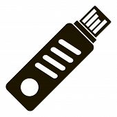 Usb Flash Icon. Simple Illustration Of Usb Flash Vector Icon For Web Design Isolated On White Backgr poster