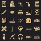 Theory Icons Set. Simple Set Of 25 Theory Icons For Web For Any Design poster