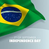 Brazil Happy Independence Day Greeting Card, Banner, Vector Illustration. Brazilian Holiday 7th Of S poster